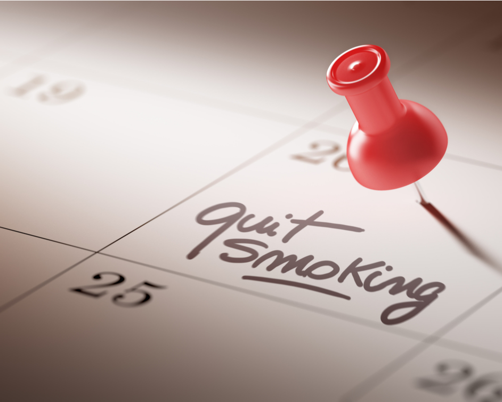 Diary note to stop smoking
